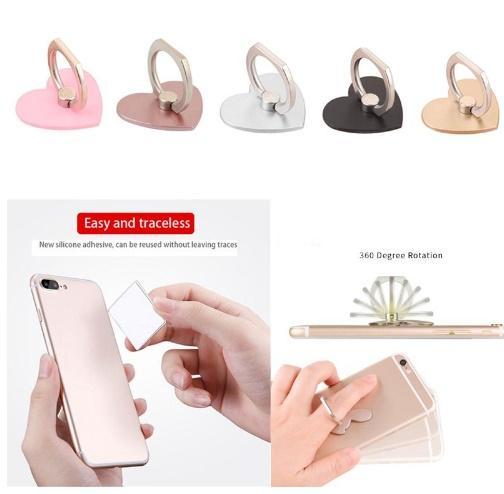 하트 모양 휴대폰 스탠드 핸드폰 홀더 편리한 멀티 컬러 손가락 그립 패키지와 보안 브래킷