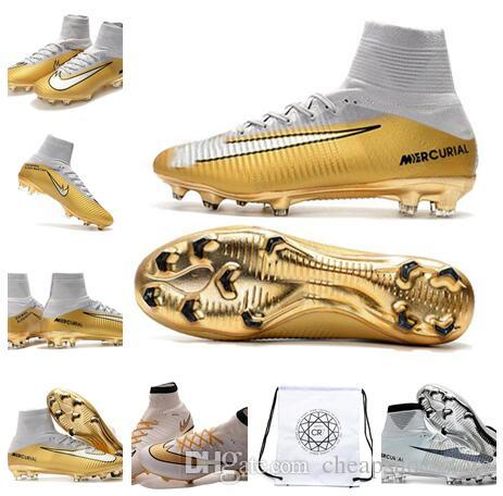 newest cf30b 833da Mercurial Superfly CR7 Quinto Triunfo FG V Soccer Cleats Cristiano Ronaldo  CR7 Kids Soccer Shoes football boots Football Bag
