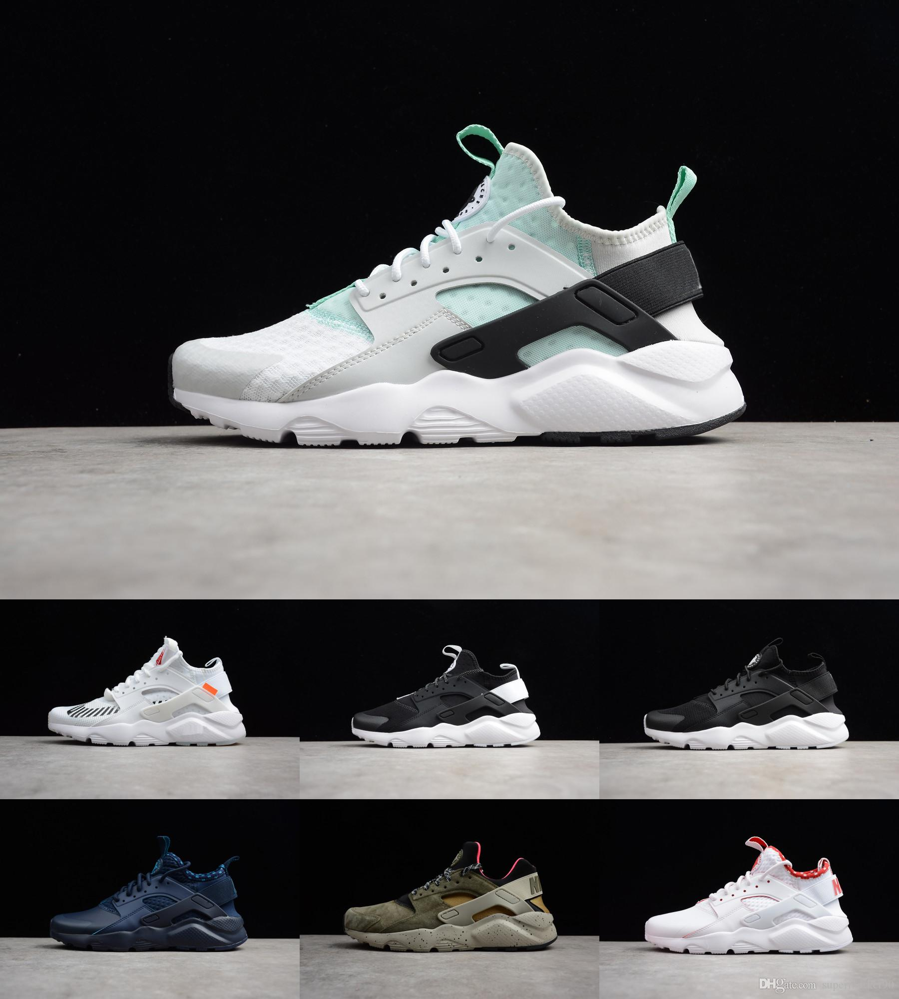 9819a325139bbb 2018 Classical Triple White Black Huarache Shoes Men And Womens Huaraches  Sports Sneakers Minimalist Running Shoes 36 45 Best Trail Running Shoes  Mens Trail ...