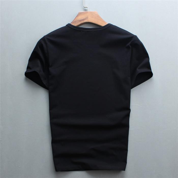 2021 Diamonds Высочайшее качество Мужской размер 2XL черный цвет Короткие футболки с роскошным тиграм Письмо алмазные повседневные хлопчатобумажные рубашки с коротким рукавом футболки бренда белые уплотнительные