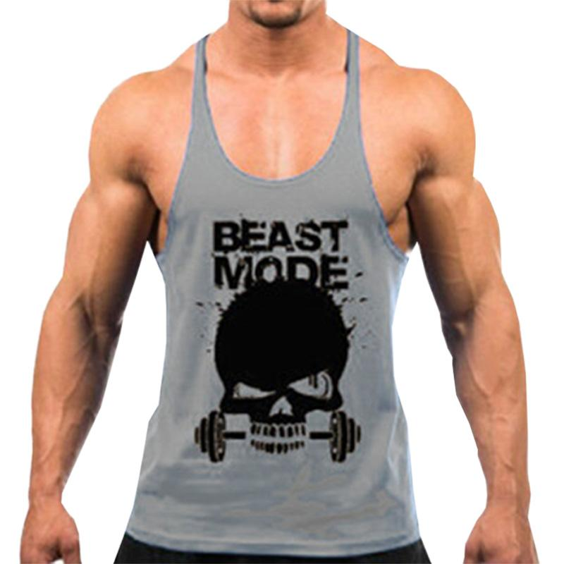 e4c2aa89fffc7 2019 Workout Tank Casual Fitness New Summer Male Y Back Stringer Tank Tops  Men Cotton Fitness Clothing Bodybuilding Top From Easme