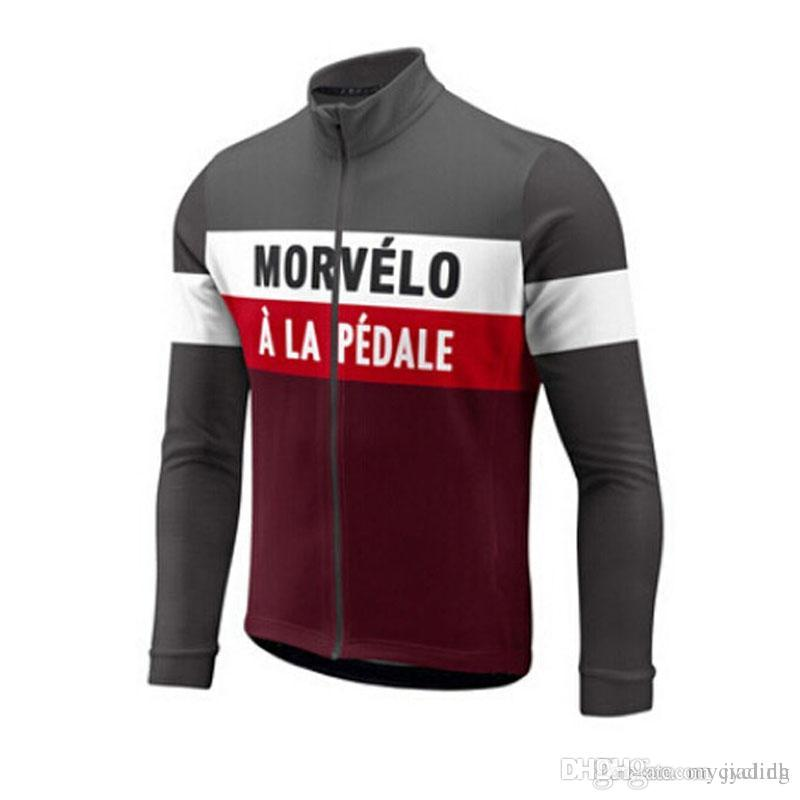 b830fb1fc 2018 Morvelo Cycling Long Sleeves Jersey Autumn Quick Dry Men Bike ...