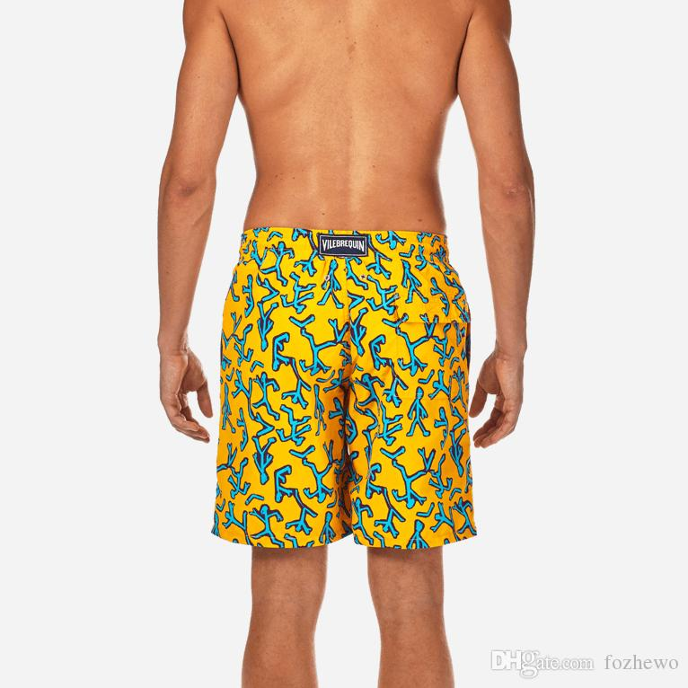 89321c2b7e8c3 2019 Boardshorts Men Swimwear Sweat Beach Surfing Sunga Masculina Sports  Fitness Swimming Trunks Board Short Swimsuit Cartoon Swim From Fozhewo, ...