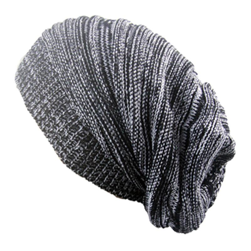 1191c76a4e002 Compre BONJEAN Nuevo Sombrero Femenino Algodón Unisex Caliente Suave Gorras  Gorro Touca Mujeres Largo Holgado Sombreros De Invierno De Punto Para  Hombres ...
