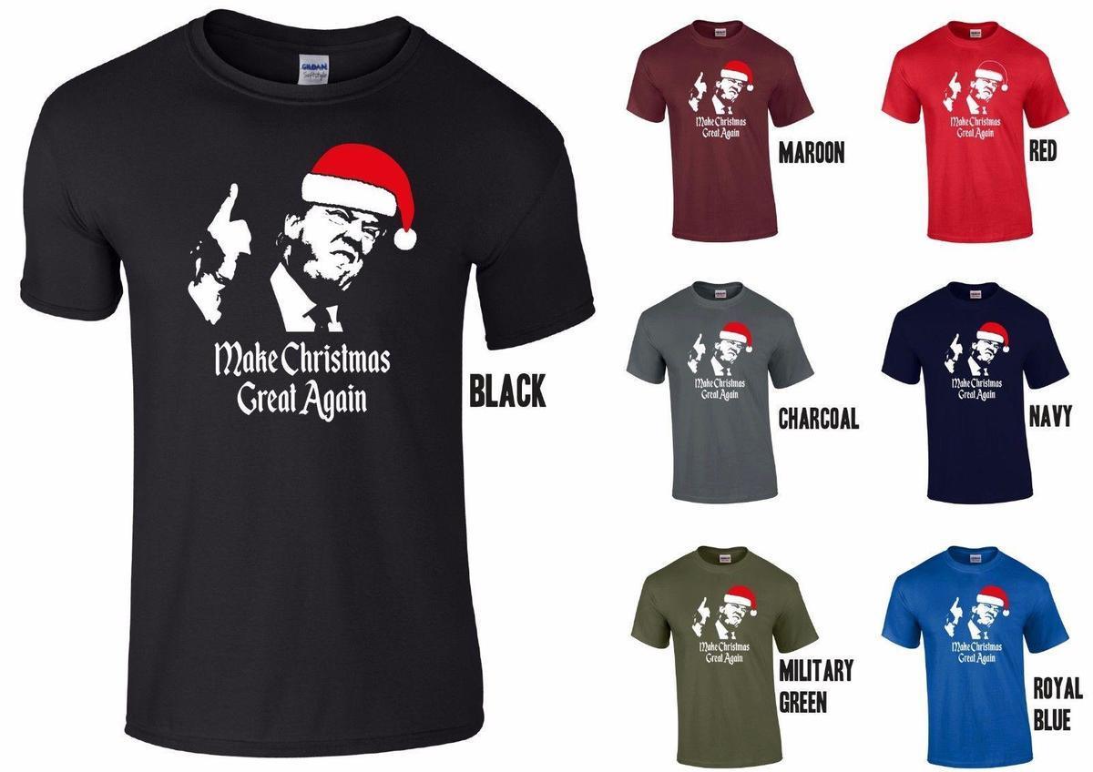 Christmas Trump Shirt.Donald Trump Make Christmas Great Again T Shirt Funny Xmas President America