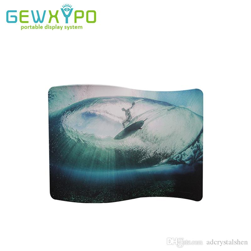 Expo Stand Backdrop : 2019 10ft*7.5ft s shape easy fabric display stand with your custom