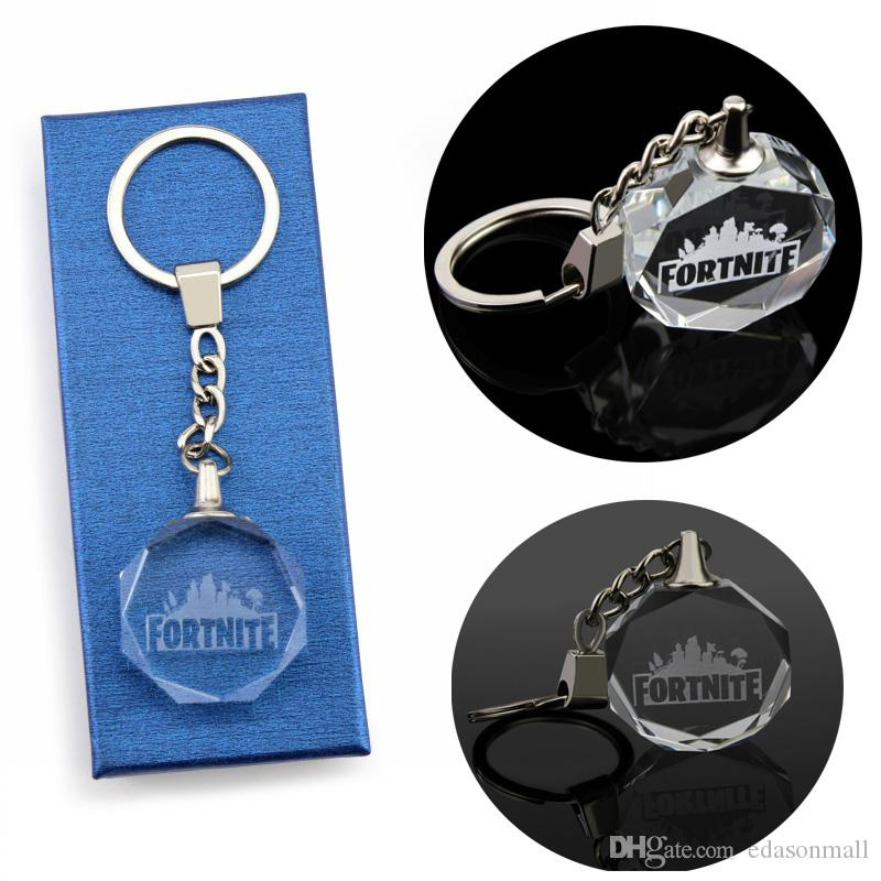 Hot Sell New Arrival Fortnite Octagon Keychain FPS Game Key Rings Car  Pendant Personalized Promotion Gifts For Unisex H459Q