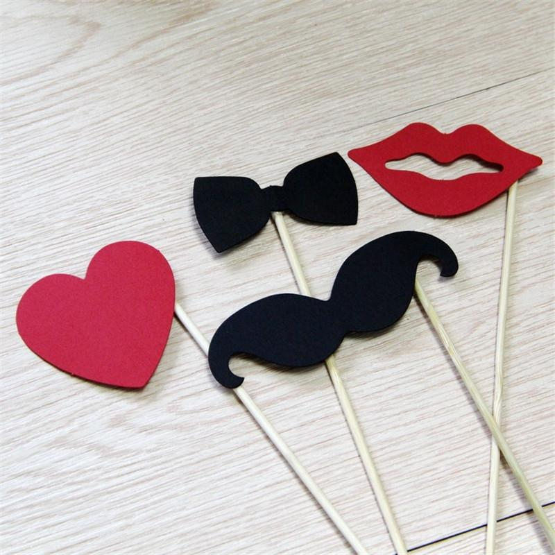 10pcs Wedding Decoration Photo Booth Props Funny Glasses Mustache Birthday Party Decoration Supplies Photobooth Props