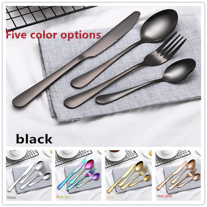 Multicolor Dinnerware Set Stainless Steel Cutlery Knife Fork Meal Spoon Set Tableware Western Food Banquet Party Tableware Casual Dinnerware Sets For 8 Cat ...  sc 1 st  DHgate.com & Multicolor Dinnerware Set Stainless Steel Cutlery Knife Fork Meal ...