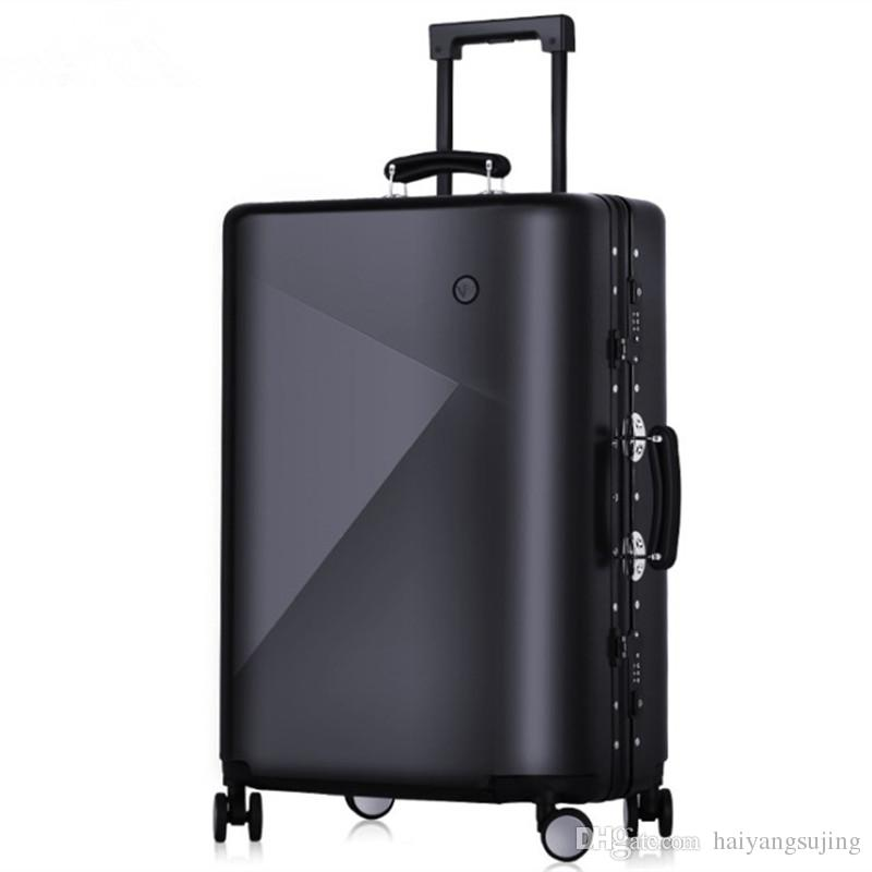 Men 20 24 Inch Rolling Luggage Bag Aluminium Frame Trolley Solid Travel  Women Boarding Bags Carry On Suitcases Trunk Lockbox Handbag Bags Suitcases  From ... b28b3dd398