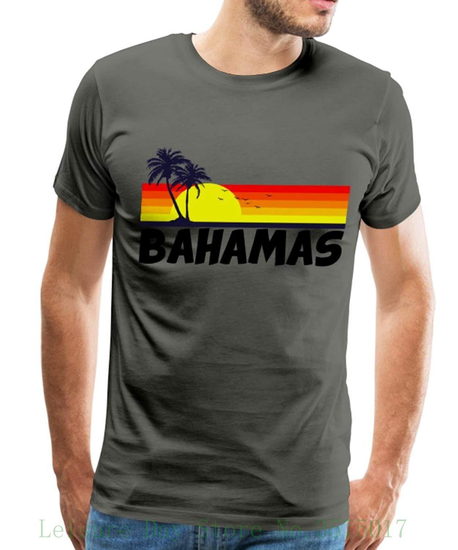 ac71677ada01 Bahamas Tropical Sunset Men's T-shirt Men T Shirt Print Cotton Short Sleeve  T-shirt