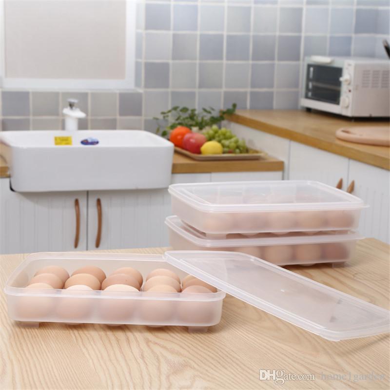 Sert Plastik Yumurta Saklama Kutusu Tek Katmanlı 24 Izgara Kapaklı Yumurtalar Kasa Organizatör Tutucu Konteyner Dispenser Tepsisi Buzdolabı Kapasitesi