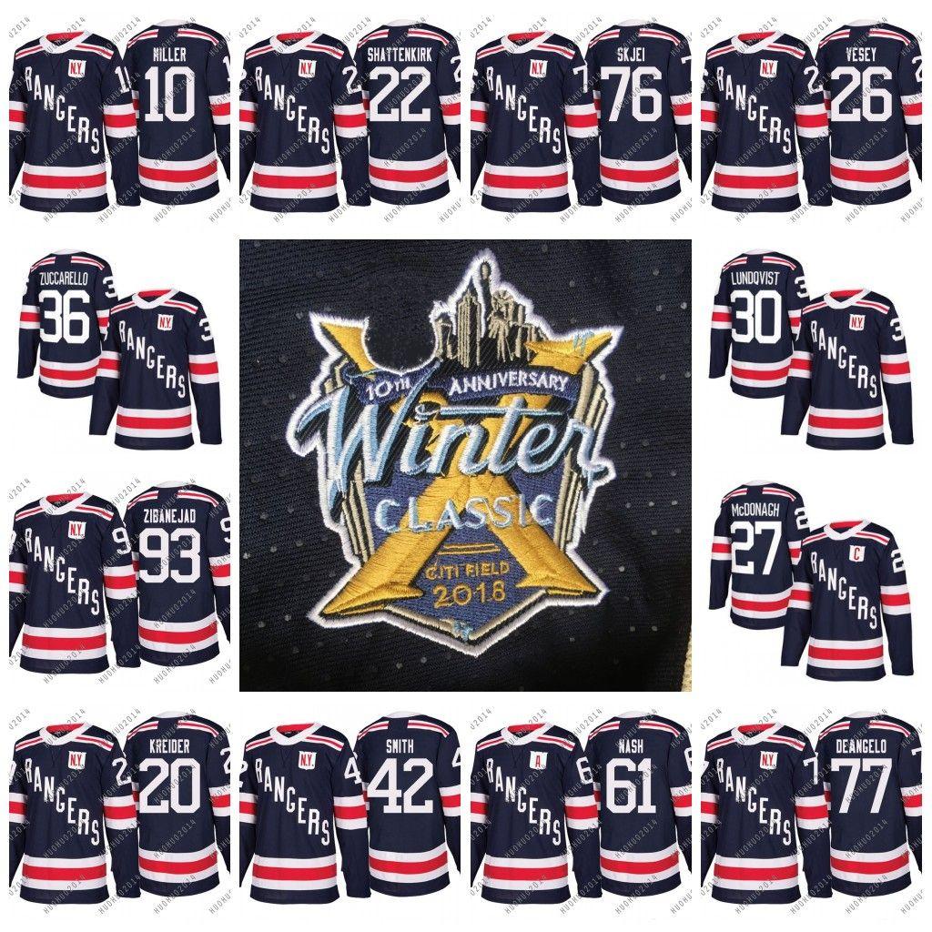 finest selection 3fe3a 6bf31 #36 Mats Zuccarello 2018 Winter Classic New York Rangers Men Youth  Shattenkirk Zibanejad Lundqvist McDonagh Kreider Skjei Hayes Vesey Jersey