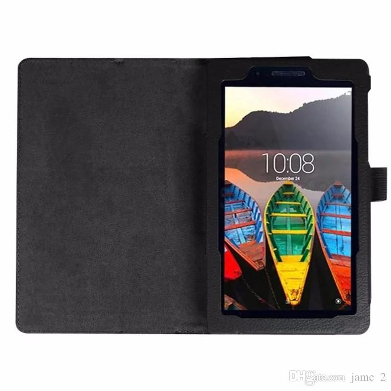 Litchi Stand PU Leather Case For Lenovo tab 3 7.0 710 essential tab3 710F Tablet Case Flip Cover