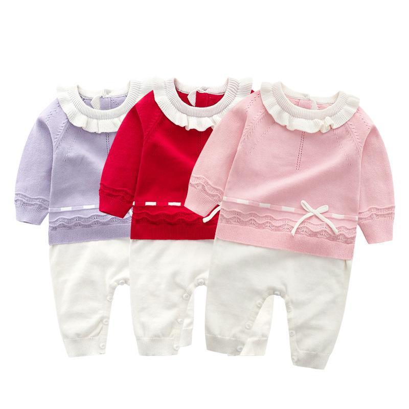 5cb67f8199b9 2019 New Baby Cotton Sweater Clothing Romper Pet Pan Collar ...