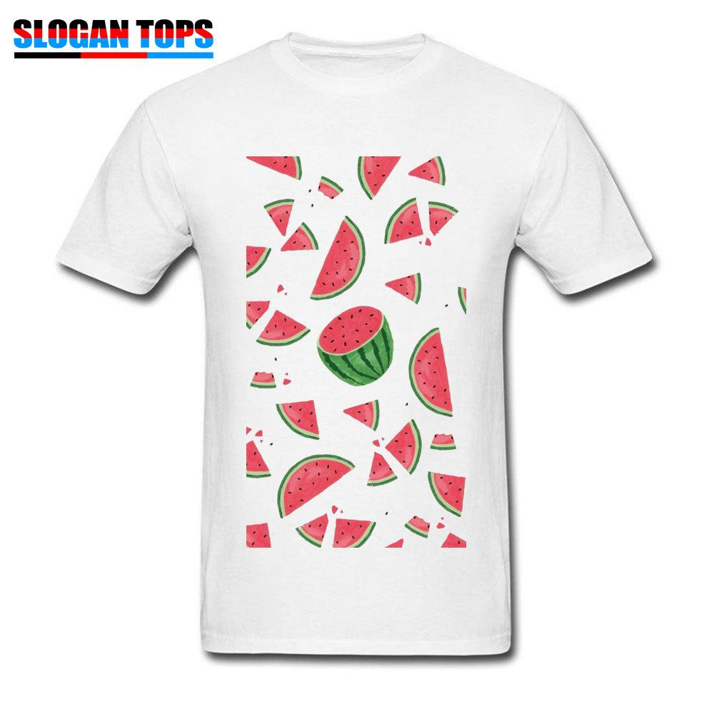 Men Printed Clothes Shirt Casual Young T Watermelon Summer tBrsQdCxh