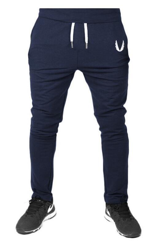 2018 Cotton Men Full Sportswear Pants Casual Elastic Cotton Mens ... 9447fc1d548