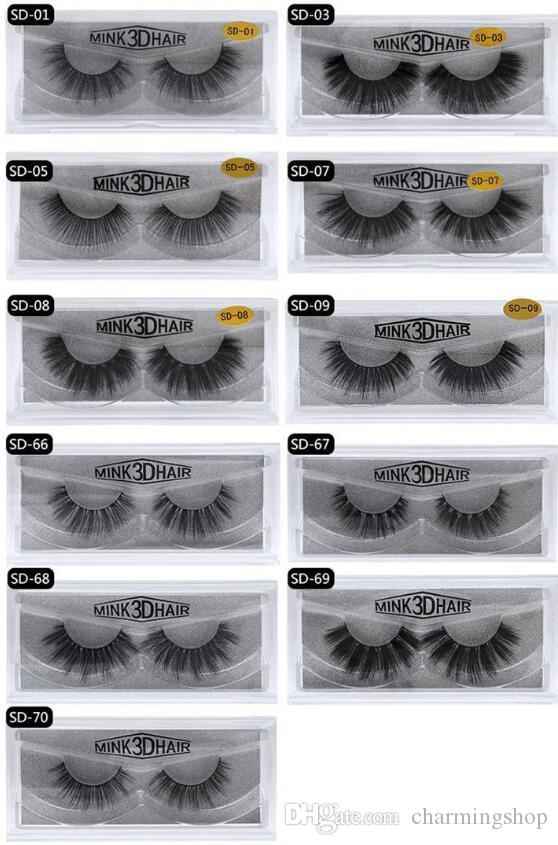 Top Quality ! MINK eyelashes 11 styles Selling 1pair lot Real Siberian 3D Full Strip False Eyelash Long Individual Mink Lashes Extension