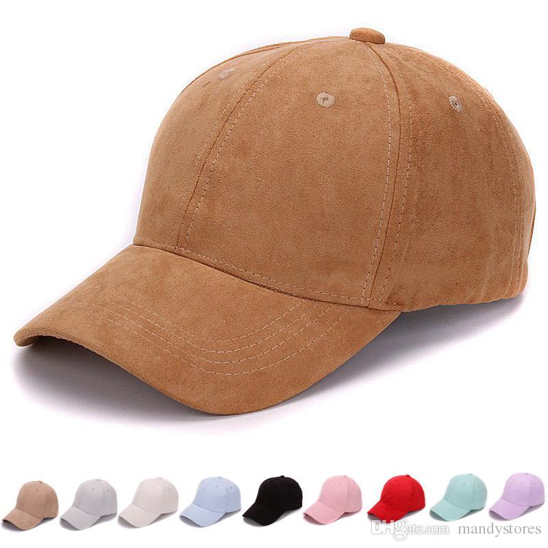 d7bbd86f0c35a2 2019 Wholesale Plain Suede Baseball Caps With No Embroidered Casual Dad Hat  Strap Back Outdoor Blank Sport Cap And Hat For Men And Women From  Mandystores, ...