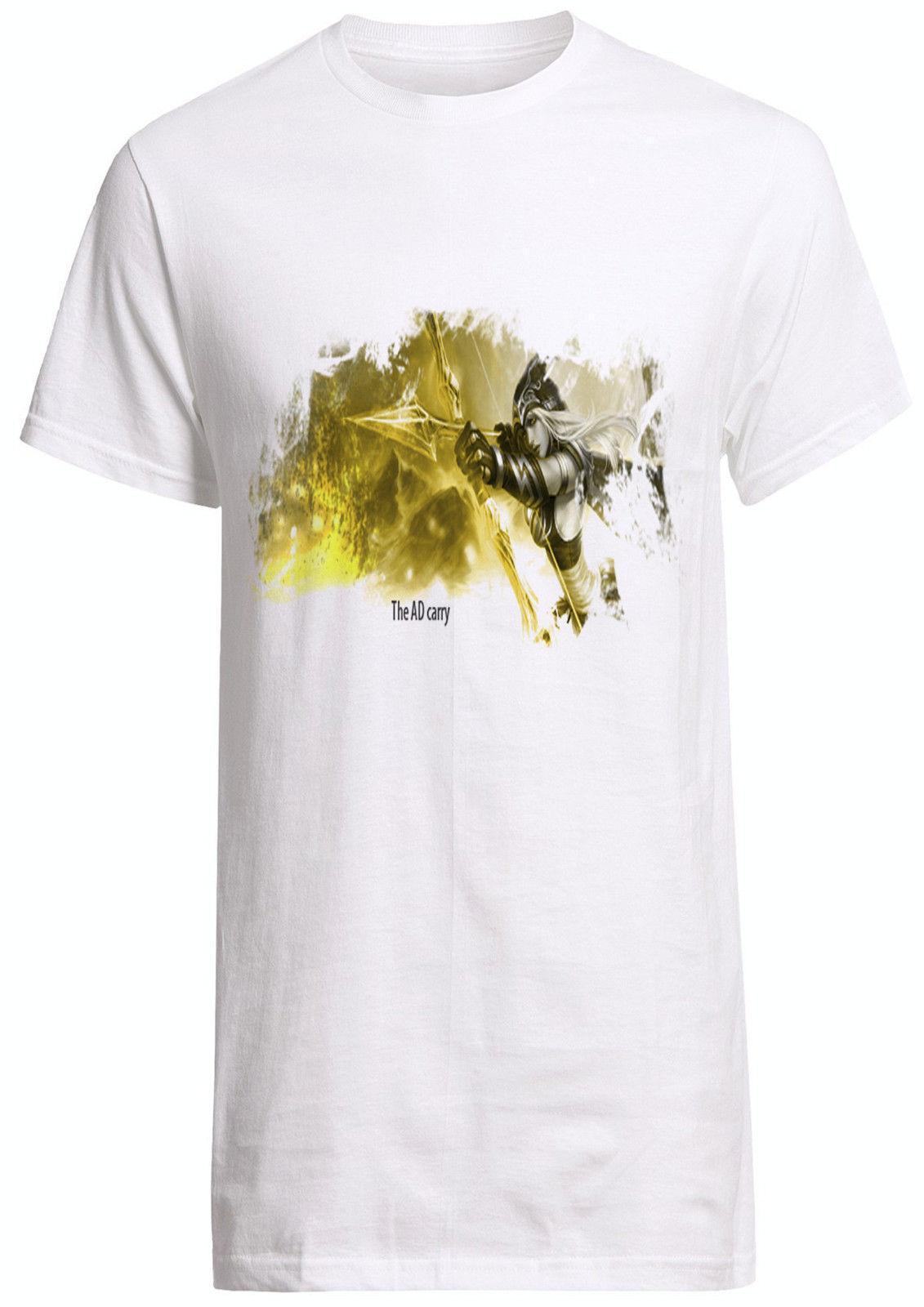 98c5d9ddde League Of Legend AD Carry Ashe Tee Volibear Jinx Ashe Vayne Shirt Custom T  Shirt Link Shirts T Shirt T From Linnan002
