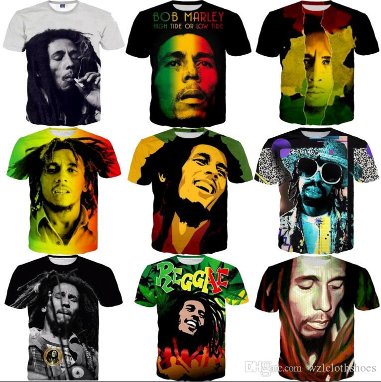 46fda77dd3d9 3D T Shirts Very Popular Style T-shirt Men Tees Print Bob Marley T-shirt 3d  Hot Clothing Summer Tops Hip Hop T Shirt Fashion 3D T Shirts Popular T-Shirt  Bob ...