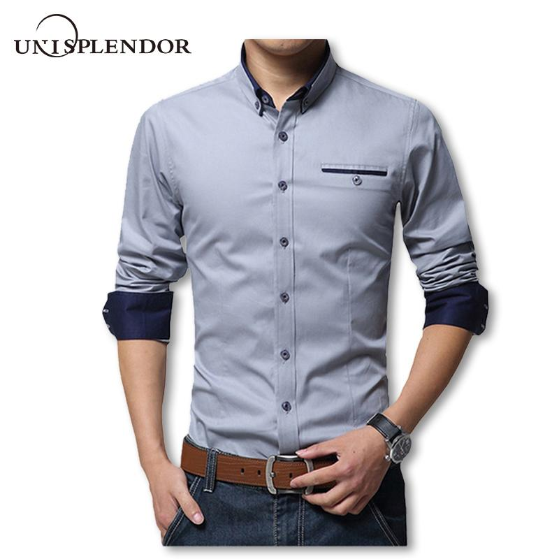 Acquista 2018 New Spring Cotton Camicie Da Uomo Di Alta Qualità Manica Lunga  Slim Fit Camicia Di Colore Puro Moderno Camisa Casual Big Size 5xl Yn270 A  ... b88a08fb73e