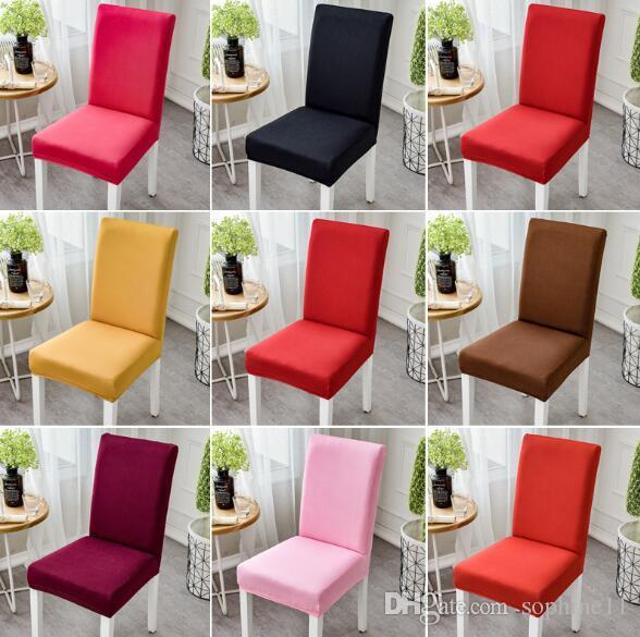 Spandex Fundas para sillas plegables Elásticos Colores sólidos Asientos  para sillas de sillas de comedor Silla de decoración de la boda de la boda  ...