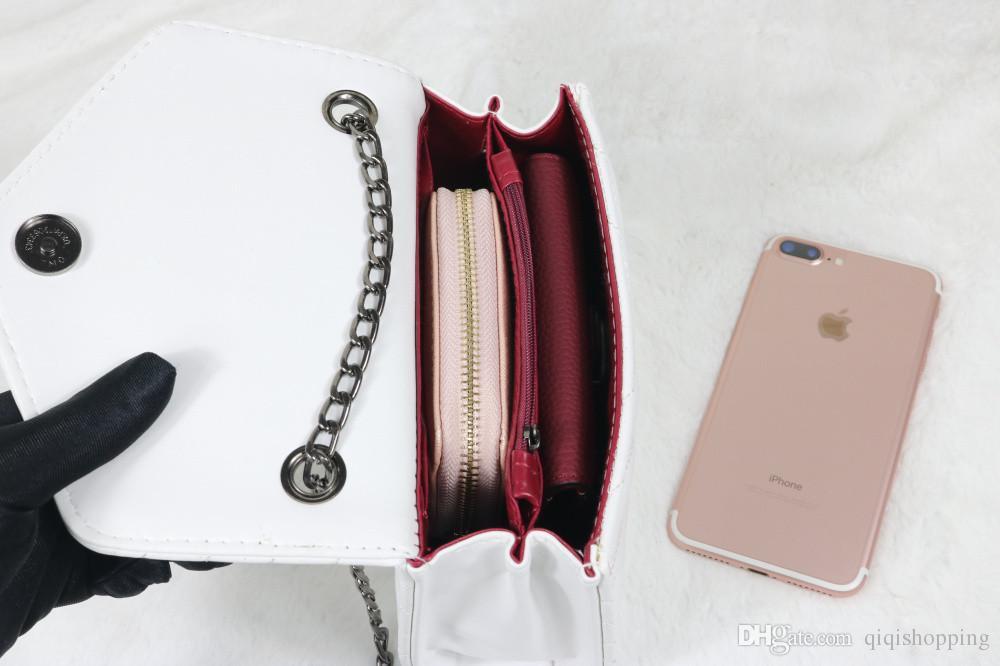 Marca de moda estilo mulheres bolsa carteira mensagem de qualidade bolsa de mão tote size19 * 5 * 14 cm tote frete grátis