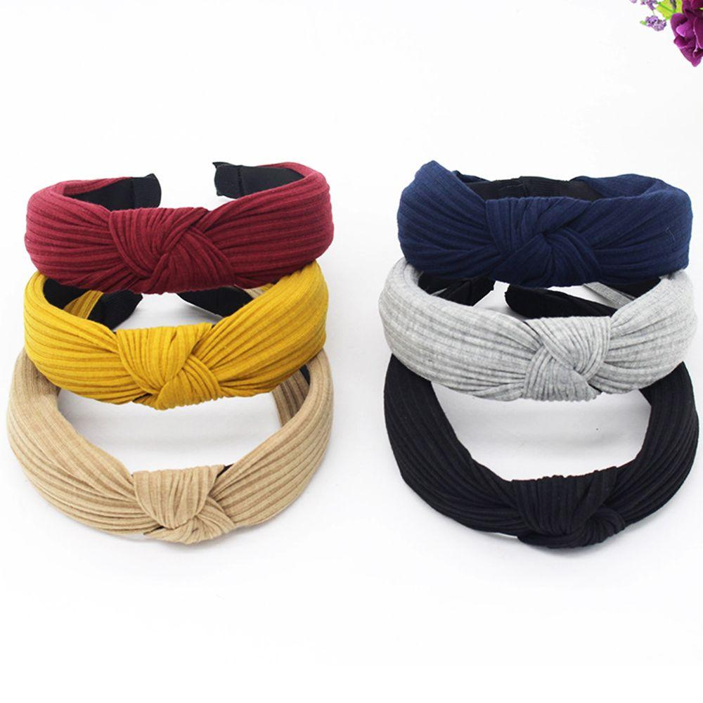 Vente de liquidation 2019 date de sortie: meilleur endroit Bandeau pour les femmes Twist Hairband Noeud papillon Cross Tie Cotton  Headwrap Hair Band Hoop