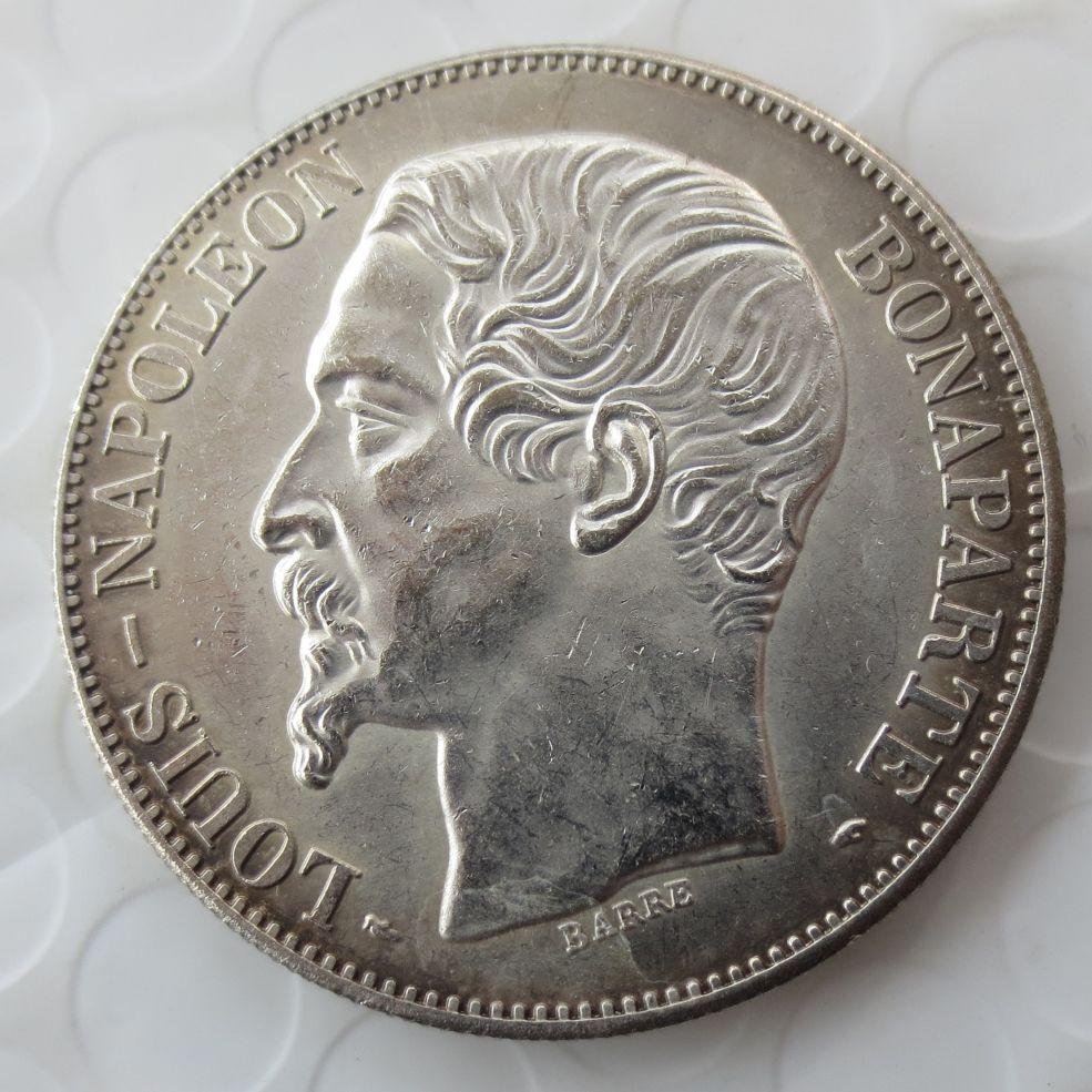 Großhandel Französisch Münze 5 Francs 1852b Silber Kopie Münze Louis