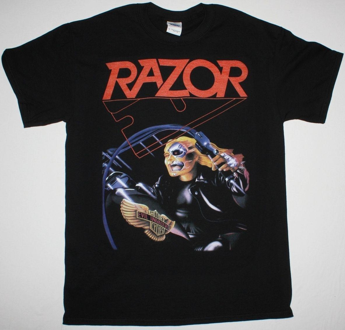 RAZOR EVIL INVADERS THRASH SPEED METAL BAND SACRIFICE S-XXL NEW BLACK T-SHIRT