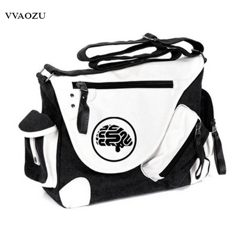8413c7eb54c6 DMMD DRAMAtical Murder Print One Shoulder Bag Men Women Cosplay Canvas Messenger  Bags Travel Students Satchels Satchel Handbags White Handbags From Murie