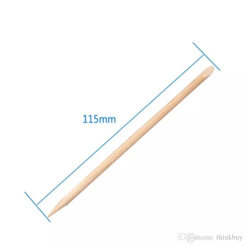 Al por mayor-Nail Art Naranja palo de madera removedor de la empuñadura de la cutícula para Manicuras Cuidado Nail Art Tool envío gratis aa130-134 2017123007