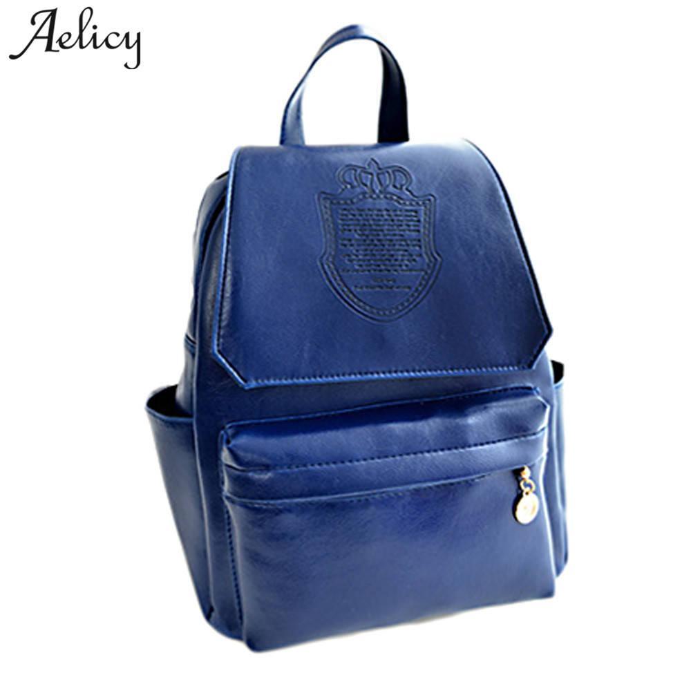 cdb14da17ea Aelicy Women Vintage Backpack Designer High Quality Leather ...