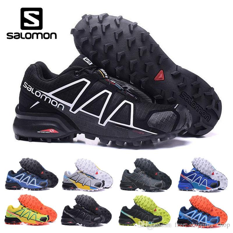 484206f6 Flash Deal BLACK Salomon 4 CS Outdoor Sneakers Speed Cross for Men Mens  Summer Fencing Sport Shoes size US 40-46