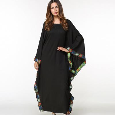 wholesale dealer 2bcef 31d30 TUHAO schwarzes Kleid große Größe 2018 Frühling Vintage Vestido  Fledermausärmel lose Maxi lange Frauen Rüschen Kleider ZZL020