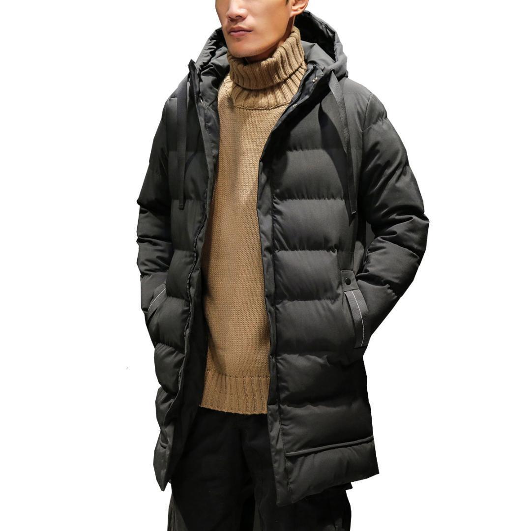 Be.YuMiao Winter Herren langen Mantel im Jahr Trend Daunenjacke verdickt Herren Winterjacken und Mäntel Männer Mäntel