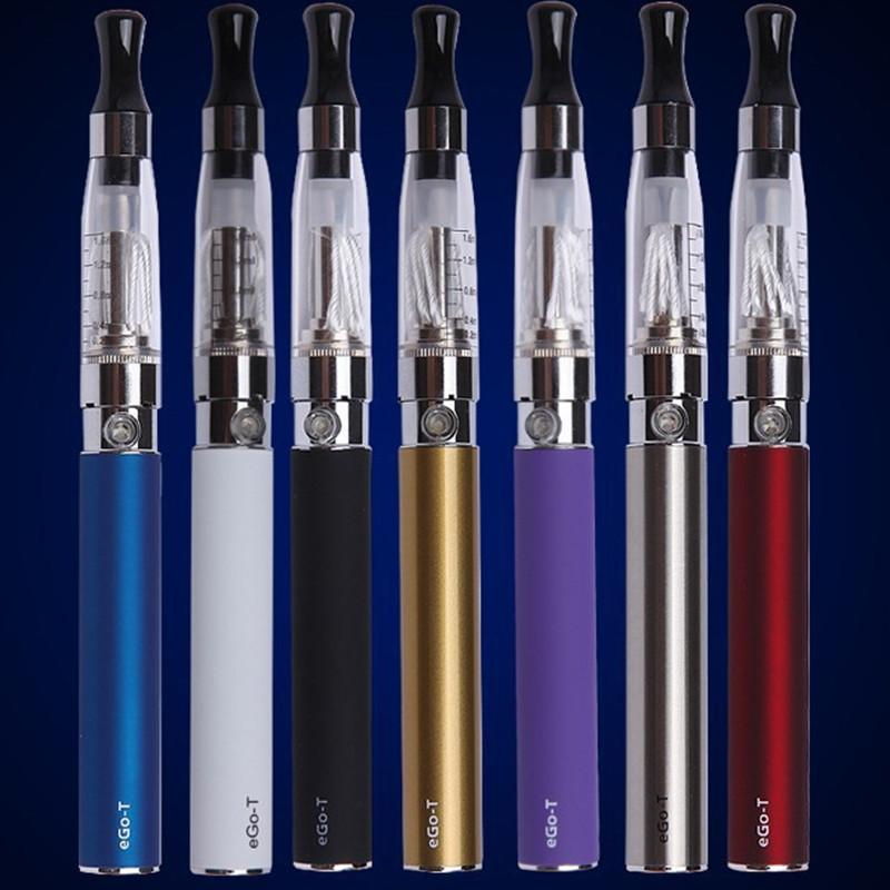 E Cig Starter Kit EGO CE4 Electronic Cigarette Blister Packing Kit 650mah 1.6ml Single EGO-T Battery Clearomizer Atomizer Vaporizer Vape Pen