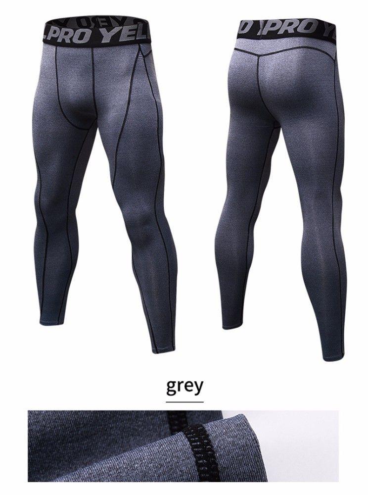 Горячие Продажи Мужчины GYM Сжатия Бодибилдинг Pantalones Hombre Фитнес Колготки Брюки Спортивные Штаны Для Мужчин Спорт Бег Леггинсы