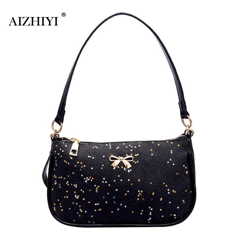 ed332c5c17dd Women Shining Sequin Bowknot Clutch Sling Handbags PU Leather Pure Messenger  Crossbody Bags Fashion Shoulder Bags Tote Purse Name Brand Purses Handbag  Sale ...