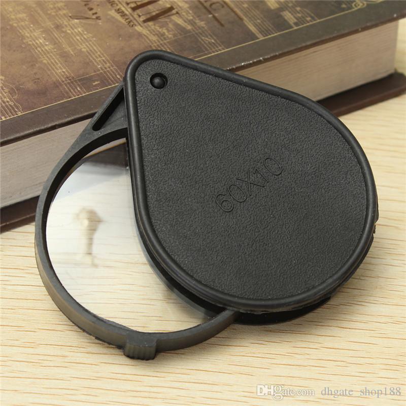 Tragbare Mini Lupe Beste Förderung für Tasche Lupe 60mm Objektiv 10x Vergrößerung Reise Lesen Schmuck Uhr Repair Tool