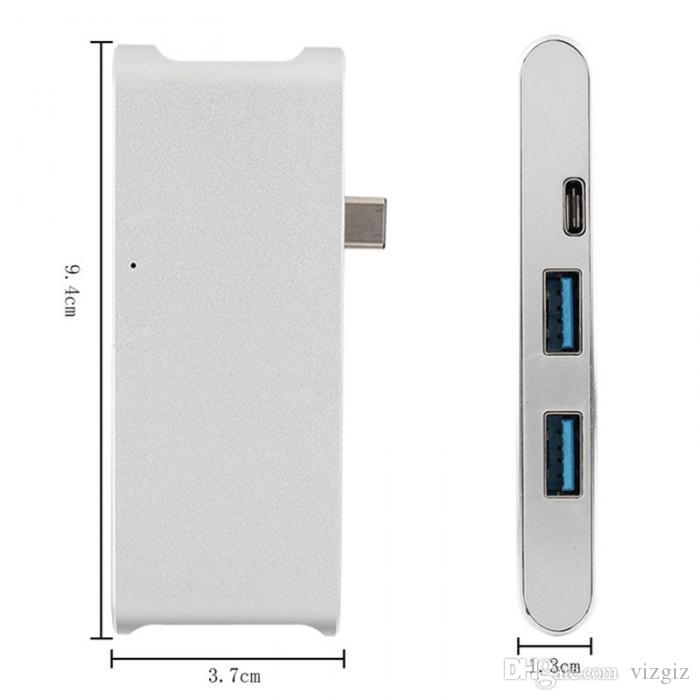 Multi-function HUB Type-C 3.1 HDMI 4K USB3.0 Ports PD Charge SD/TF Card Reader For MacBook 2015/2016/Pro HP i7 Dell's XP XXM8