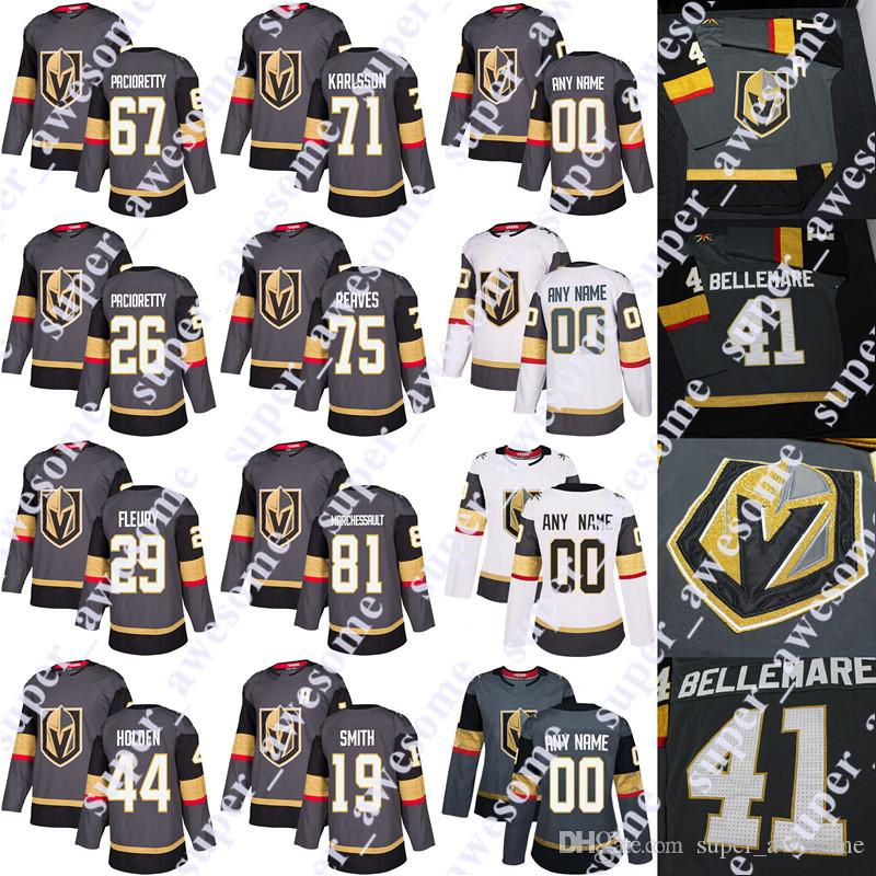 Vegas Golden Knights Jersey Mark Stone Max Pacioretty Paul Stastny Ryan  Reaves Nick Holden Marc Andre Fleury William Karlsson Marchessault UK 2019  From ... e0d4b7f1c