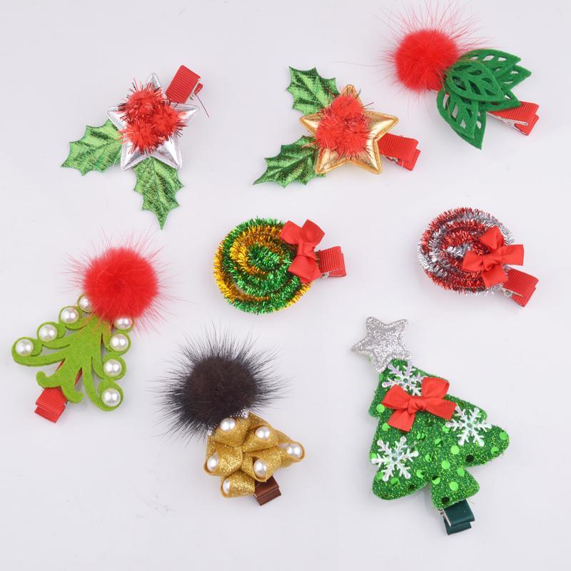 Christmas Hair Clips.New Fashion Christmas Hair Clips For Girls Santa Claus Xmas Hairpins Barrettes Gifts For Kids Children Hairpins Hair Accessories