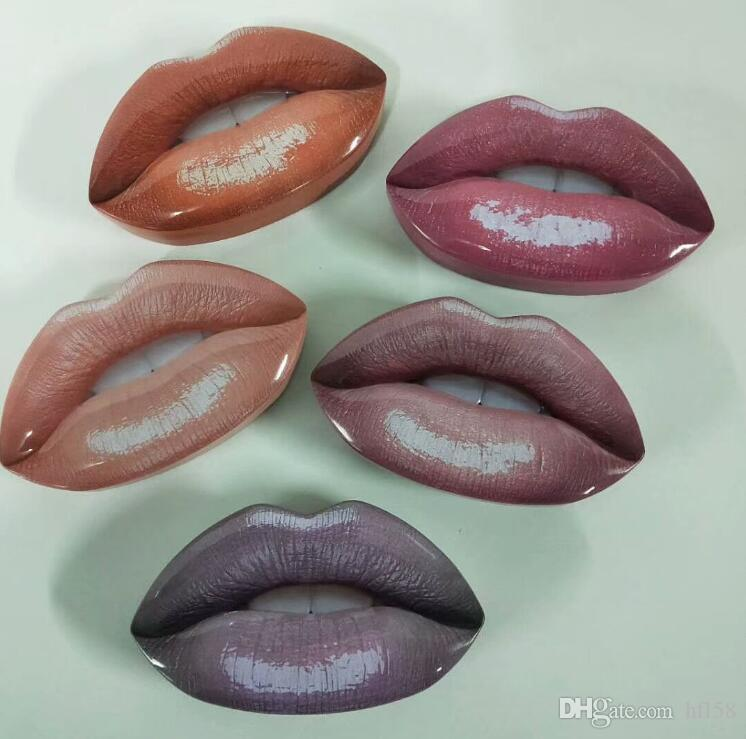 hot newest Beauty makeup Big mouth set of lip pencil +mini liquid lipstick+mini lipgloss with retail box dhl free +gift