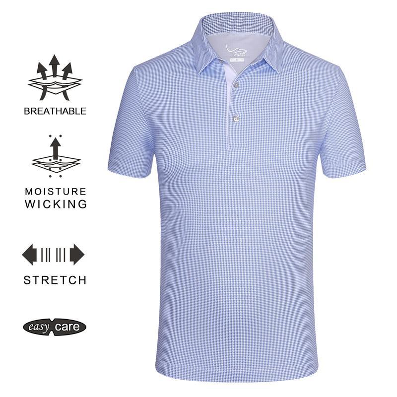 086bdd8d1de Compre EAGEGOF Ropa De Golf / Camiseta De Manga Corta Para Hombre Camiseta  Deportiva De Verano Camiseta Polo De Secado Rápido Ropa Para Deportes ...