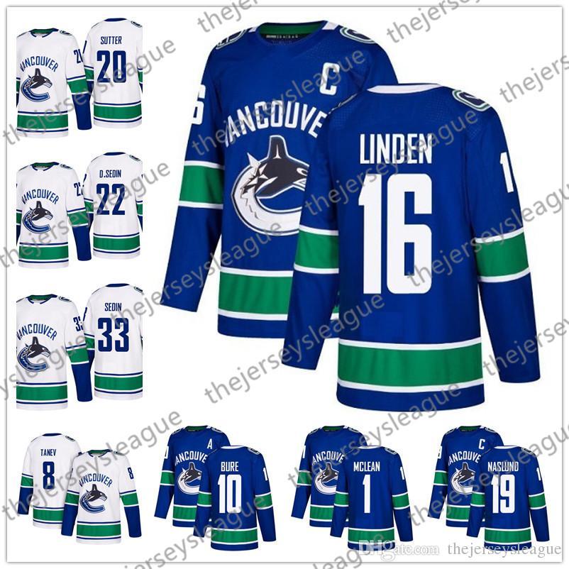 Vancouver Canucks 2018 New Brand  10 Pavel Bure 16 Trevor Linden 1 ... d57c56437