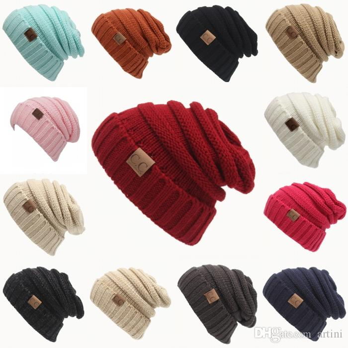 da2937ac120b9 Best Selling Autumn And Winter CC Labeling Wool Knit Hat Cap Outdoor ...