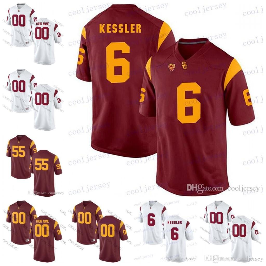 premium selection 9c525 e10bf Custom USC Trojans #6 Cody Kessler 10 Brian Cushing Malcolm Smith 58 Rey  Maualuga College Football Jerseys Any Name Number Stitched