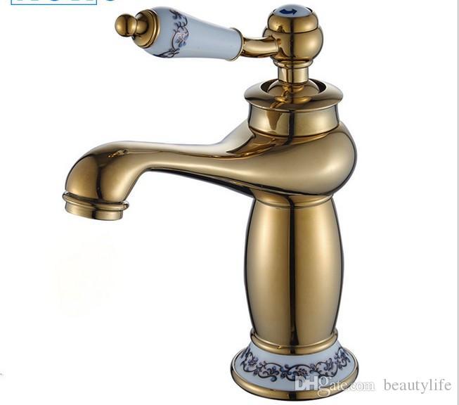acheter européenne antique robinet cuivre bassin monotrou chaud et